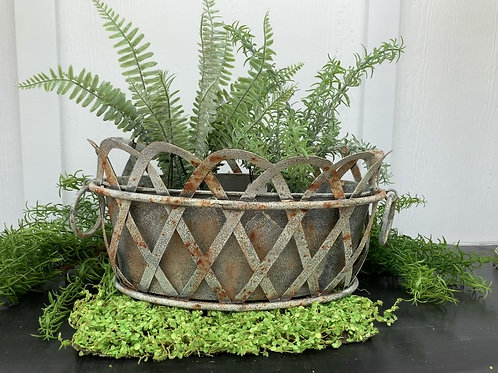 Metal Lattice Bucket