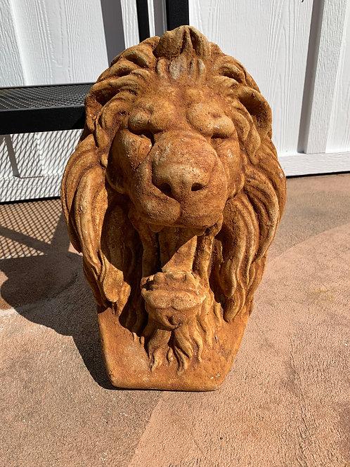 Concrete Lion Head