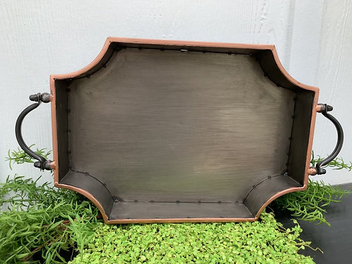 Large Bronze Trimmed Tray