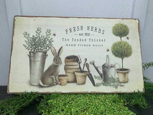 Fresh Herbs Plaque