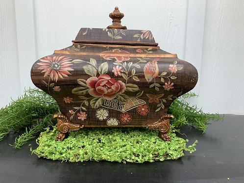 Painted Cache Pot