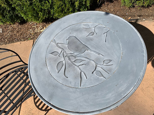 Decorative Outdoor Table w/ Bird Detail