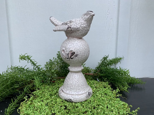 Bird Finial with Crackle Finish