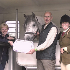 Ted with his owners and Michelle with silverware