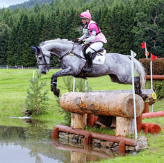 Belle Amour at the water jump Blair Castle