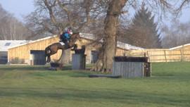 Shea jumping ditch pallasade at Somerford