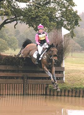 Shea Jumping the Water jump at Weston