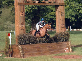 Michelle and Juno jumpin at Somerford
