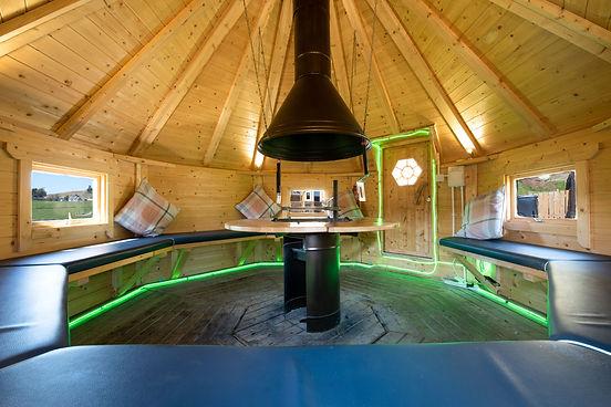 Laggan Glamping indoor BBQ Pod