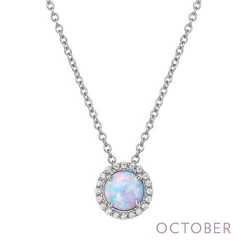 Sterling Silver October Birthstone Pendant