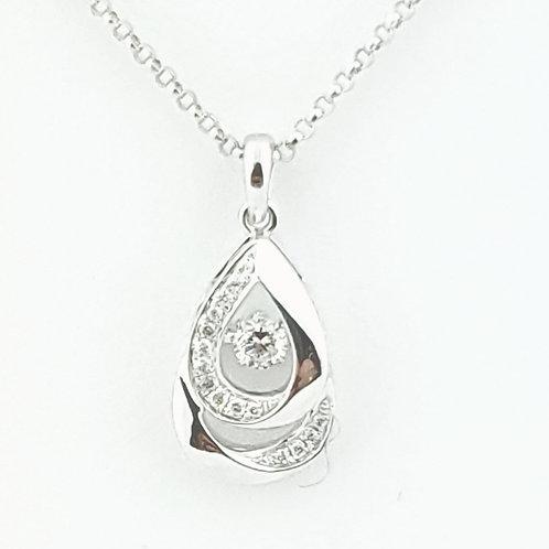 14KW .15cttw Diamond 'Shimmer' Pendant