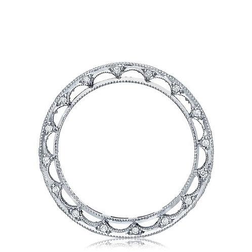 Tacori Reverse Crescent 18KW Diamond Wedding Band