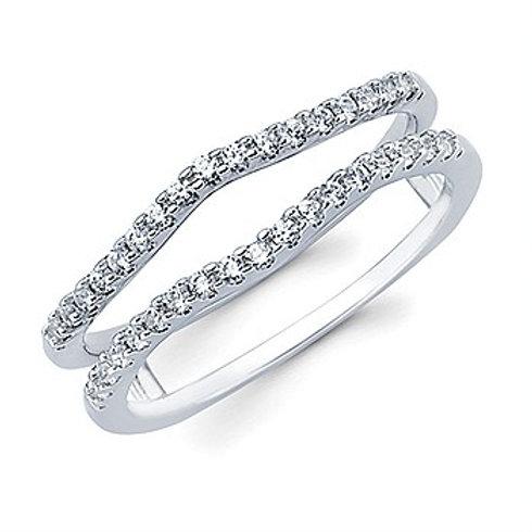 14KW Diamond Wedding Contour Insert Ring