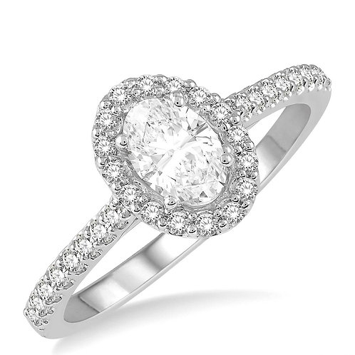 Oval Shaped Diamond Engagement Ring