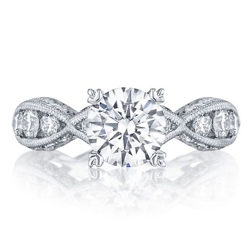 Tacori Classic Crescent Platinum Engagement Ring