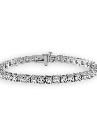 14K White Gold 3cttw Diamond Tennis Bracelet