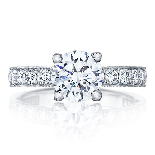 Tacori Sculpted Crescent 18KW Engagement Ring