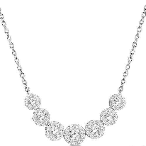 "Lds 14KW 3/4cttw ""WOW!"" Diamond Necklace"