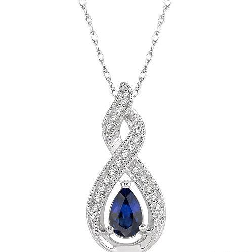 10KW Sapphire & Diamond Pendant