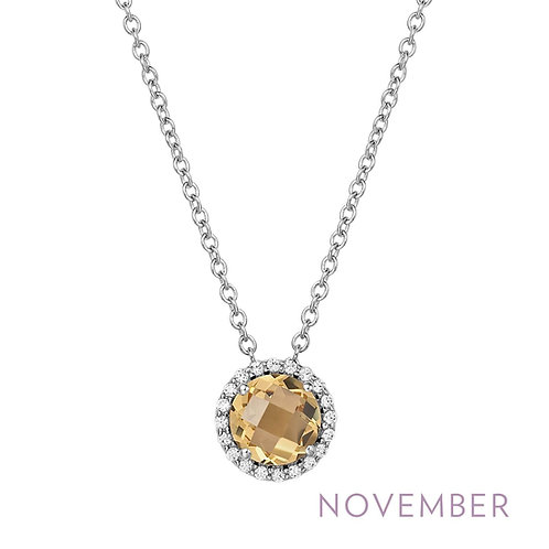 Sterling Silver November Birthstone Necklace