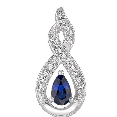 10KW Sapphire & Diamond Earrings