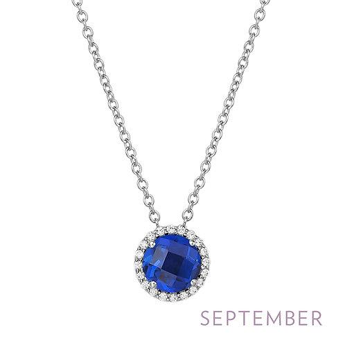 Sterling Silver September Birthstone Pendant