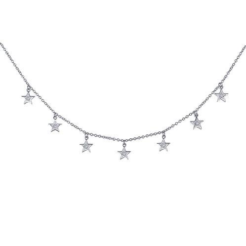 Sterling Silver 7 Symbols of Joy Necklace