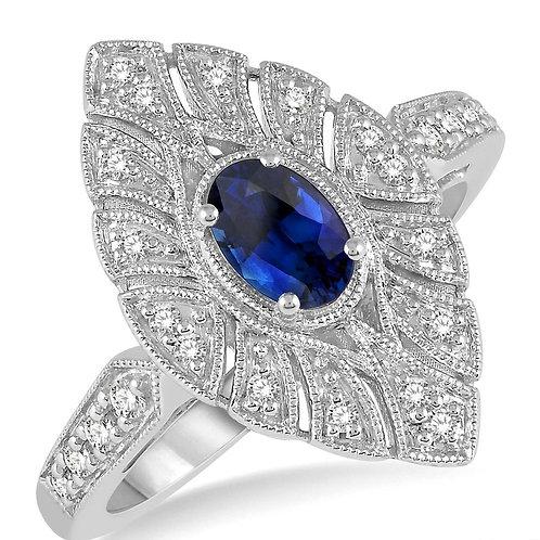 10KW Sapphire & Diamond Ring