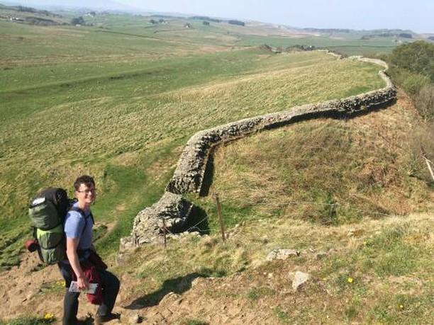 Finn walked Hadrian's wall