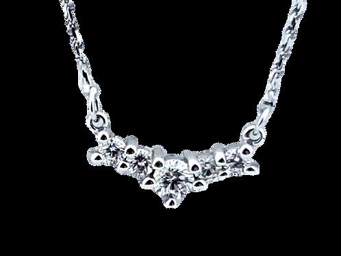 14KW 5-Stone Diamond Necklace