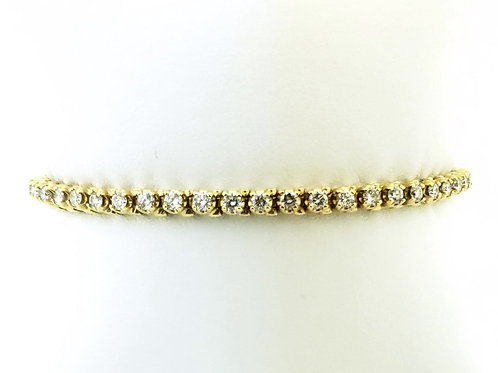 14KY 4.47cttw Diamond Tennis Bracelet