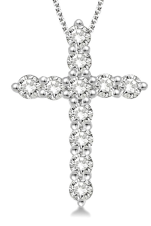 14KW .25cttw Diamond Cross