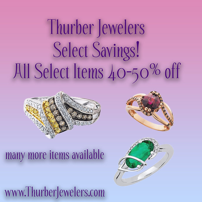Select Savings at Thurber Jewelers