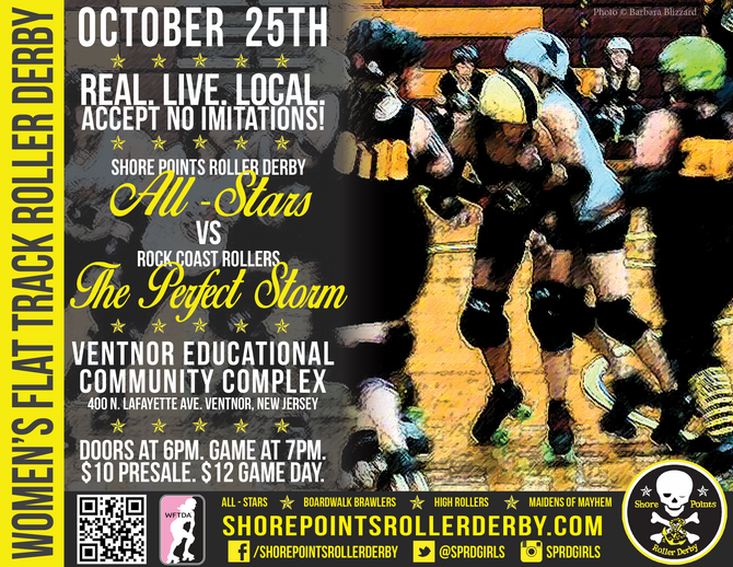 Roller Derby returns to Ventnor October 25th!