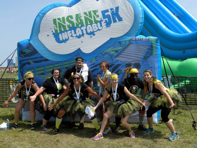 SPRD Wins the Fun at Insane Inflatables 5K