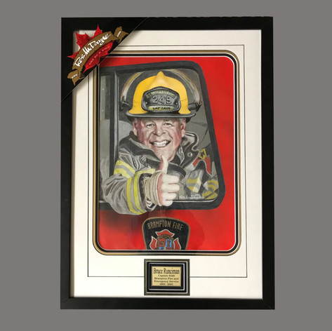 Brampton Fire Captain Retirement Gift