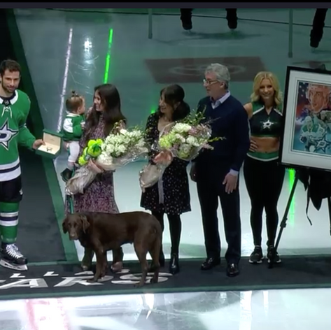 Andrew Cogliano's Thousandth Game presentation