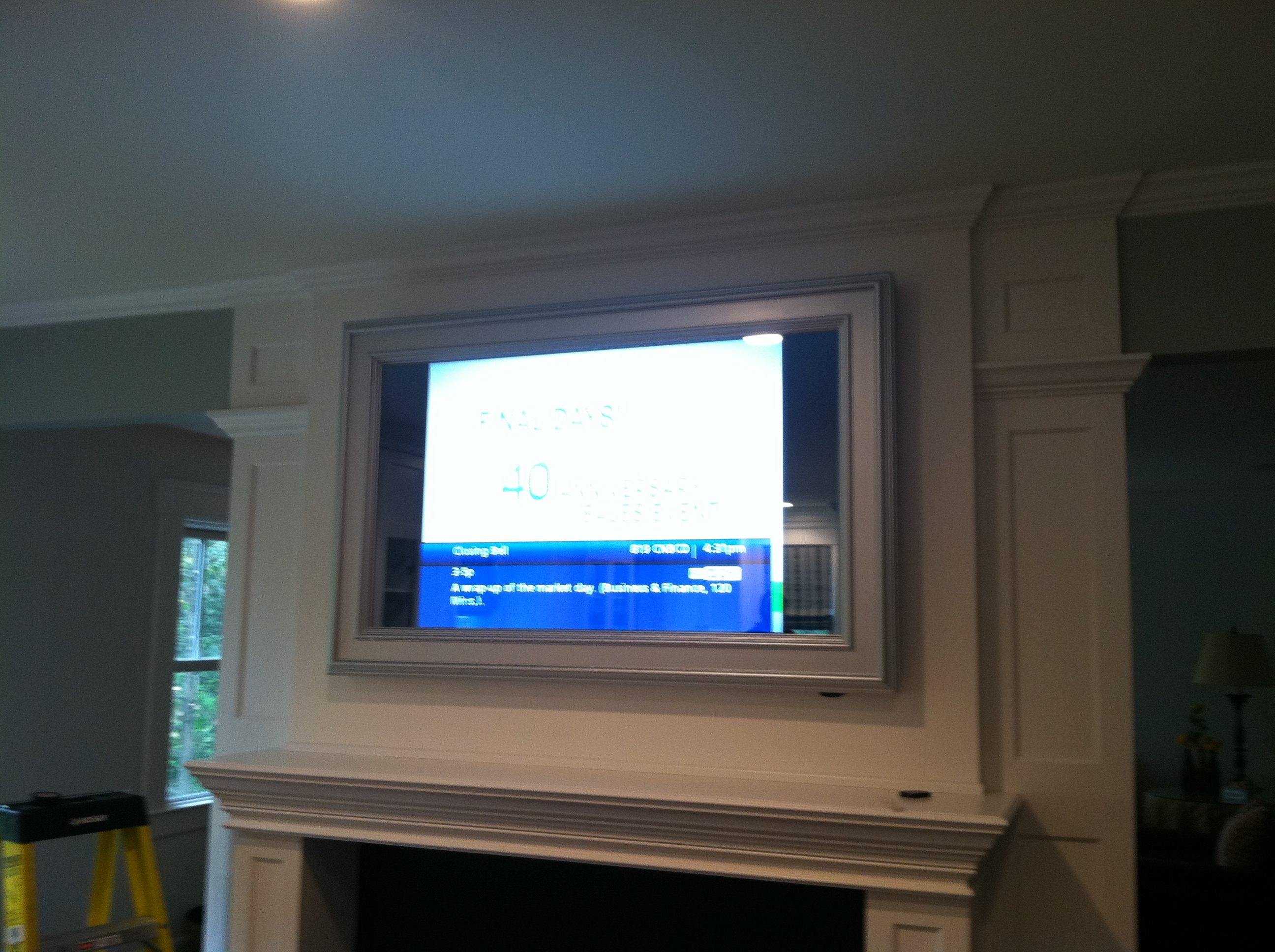 Framed TV Behind 2 Way Mirror