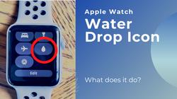 Apple Watch Water Drop Icon