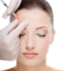 Botox anti-wrinkle injection, glabella region, frown, wrinkles
