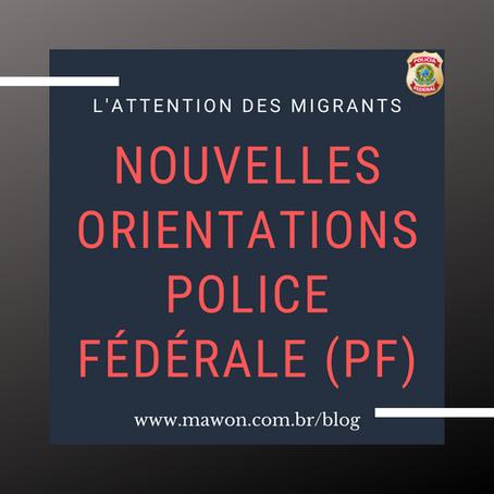 Attention aux migrants! De nouvelles directives sont en cours d'adoption par la police fédérale.