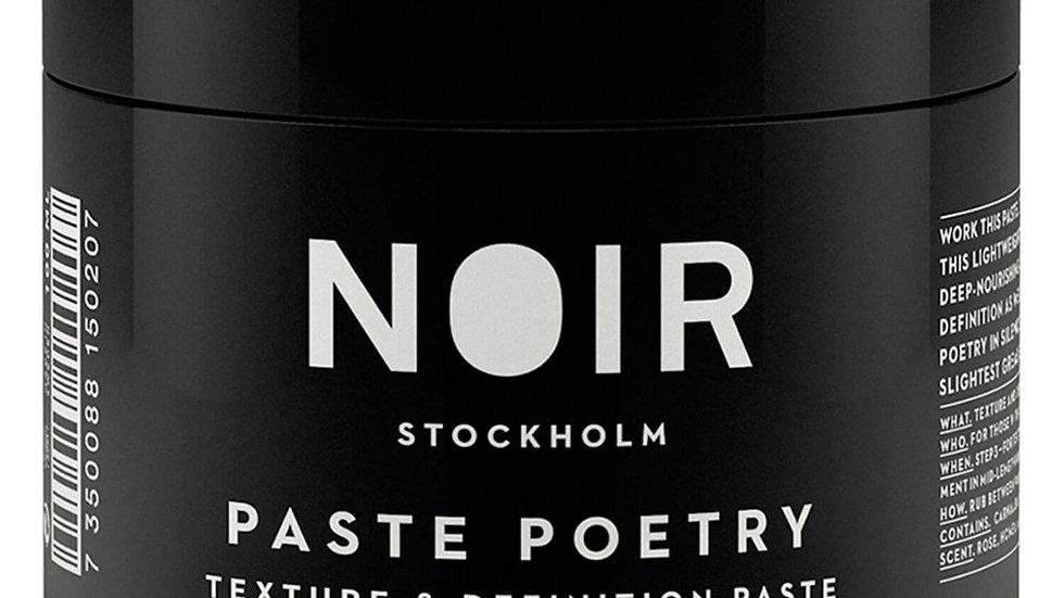 Noir Paste Poetry Texture