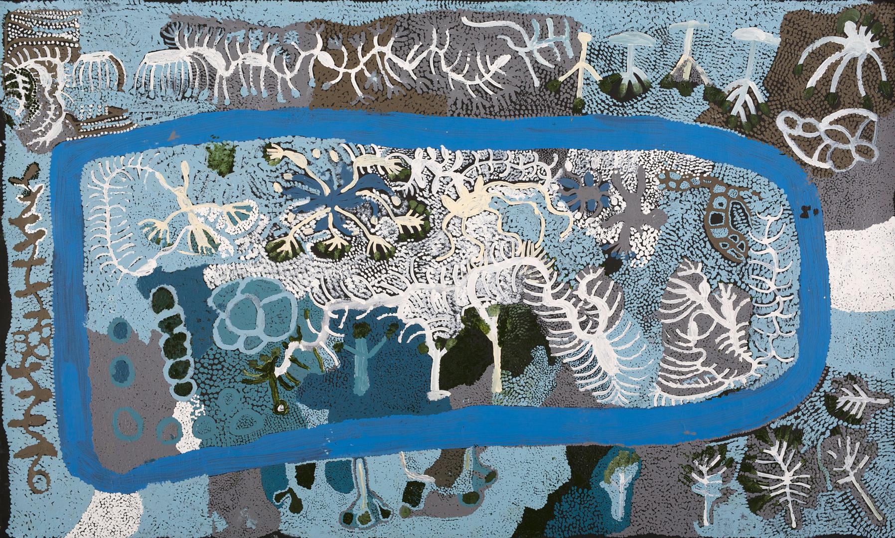 Collaboration by Doris Bush Nungarrayi and Martha McDonald Napaltjarri
