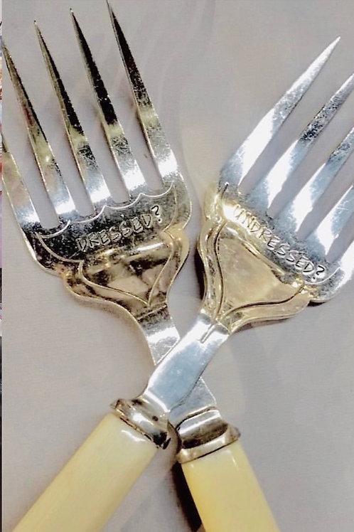 Dressed? / Undressed? serving forks