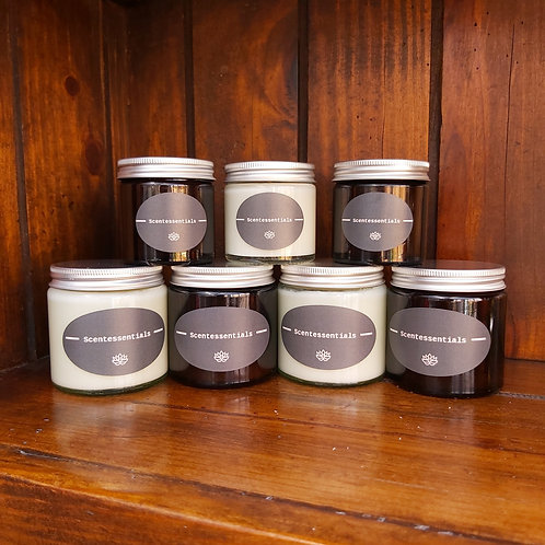 Unscented soy wax candle jars 60ml/120ml