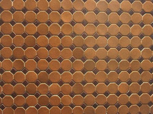 Pastilha Octagonal Brasile Laranja com Tozeto Terracota