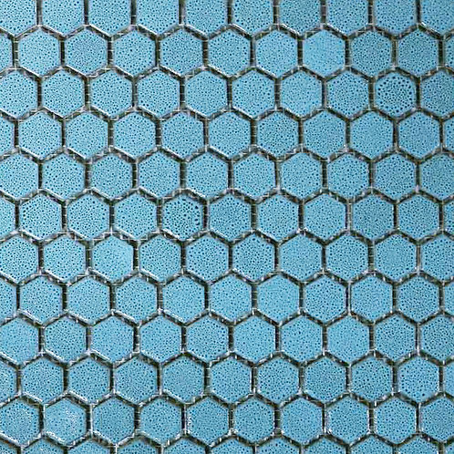Pastilha Sextavada 2,5x2,5 Linha Brasile Azul Turquesa