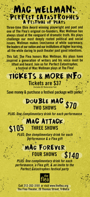 'Mac Wellman: Perfect Catastropes, A Festival of Plays' Rack Card Back