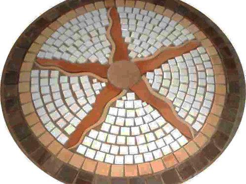 Rústico Mosaico Raio de Sol