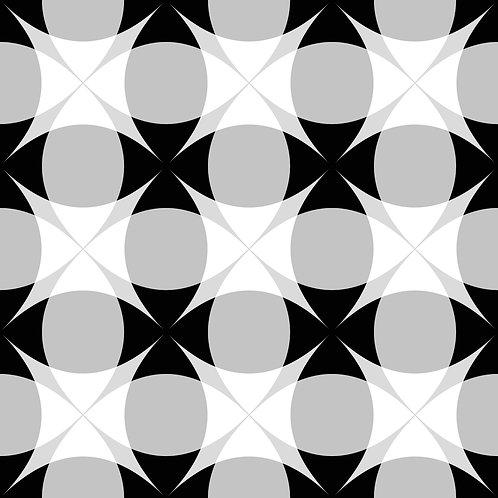 Azulejo Preto e Branco 02 (AJPB-02)